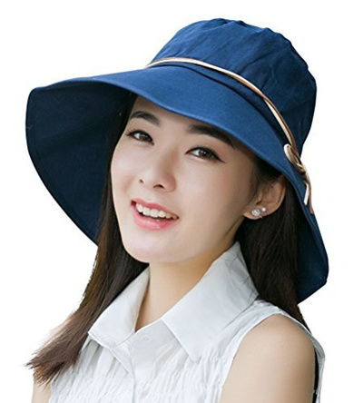 331eaccd1c1 Qoo10 - HindaWi Sun Hats for Women Hindawi Summer Foldable Wide Brim UV  Protec...   Fashion Accessor.