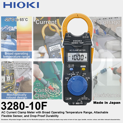 HIOKIHIOKI 3280-10F AC Current Clamp Meter (Made in Japan) One Year Warranty