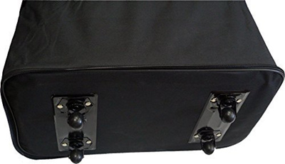 657626026554 HiPack 30 Rolling Wheeled Duffle Bag Spinner Suitcase Luggage Expandable  (30 Inch, Black)
