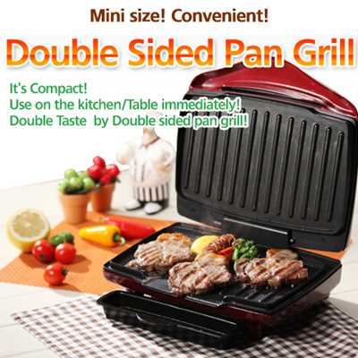 Qoo10 ★hit Item★ Double Sided Pan Grill Electric Grill