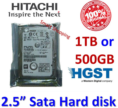 Hitachi HGST HDD 500GB 1TB INTERNAL Sata HARDDISK for NOTEBOOK Laptop Nbook Netbook 2.5