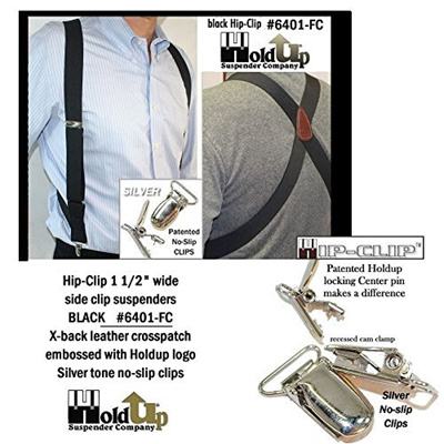 ce584073535 Qoo10 - Hold-Up Suspender Co. Hold-Ups Black Trucker Style Hip-clip X-back  Sus...   Men s Bags   Sho.