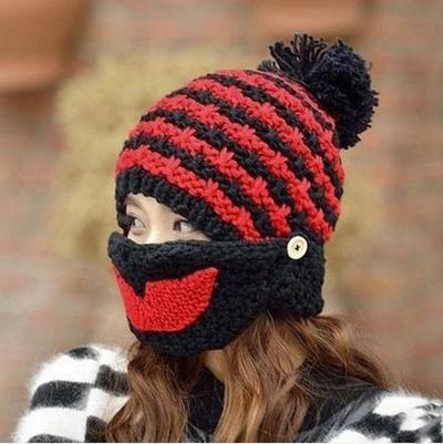 Qoo10 - Hole Knitted Face Mask Balaclava Hat Ski Army Stocking Winter Cap  Bean...   Cosmetics b94cd49ccc2a