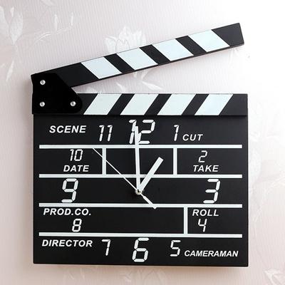 hollywood action movie slate wall clock home caf decoration idea - Slate Cafe Decoration