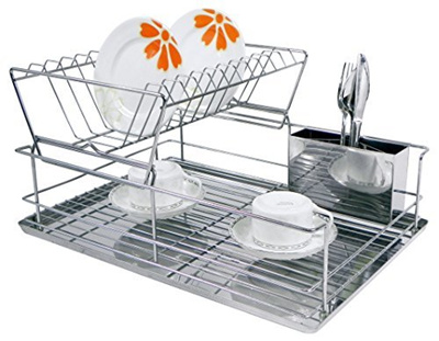 Home Basics 2 Tier Dish Rack Amazing Qoo60 Home Basics Home Basics 60Tier Dish Rack Kitchen Dining