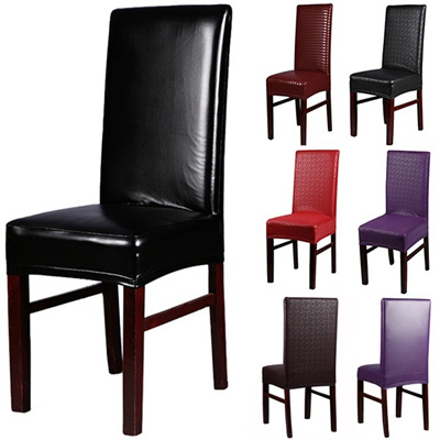 Qoo10 home chair cover wedding decoration stretch pu leather home chair cover wedding decoration stretch pu leather spandex dining chair slipcovers junglespirit Images