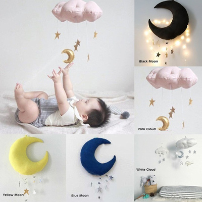 Home Decoration Clouds Moon Shape Wall Hanging Children Room Hanging  Decorations Ornaments