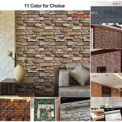 Home Decoration Waterproof Brief Wall Sticker Wall Bricks Pattern Self  Adhesive Wallpaper Bedroom Li