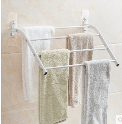 Qoo10 Home Do Not Punch Multi Layer Towel Rack Bathroom Towel