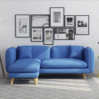 Home FactorHome Factor/Furniture 2018 NEW /3 Seater Sofa With Stool/Living  room sofa/Comfortable Sofa/BEST PRIC