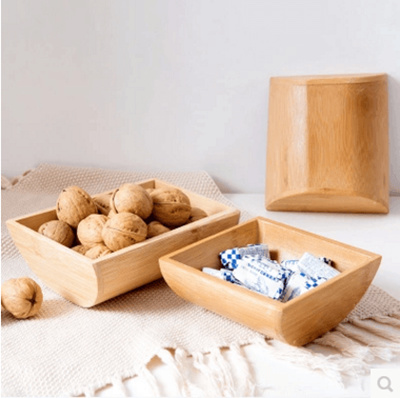 Qoo10 Home Original Bamboo Dried Fruit Plate Living Room Coffee Table Nut St Furniture Deco