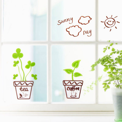 Home room glass self-adhesive stickers classroom garden wall sticker living  room bedroom