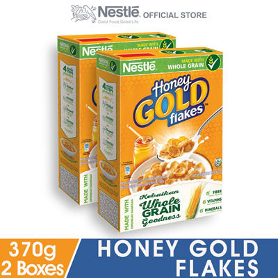 Image result for HONEY GOLD Cereal Large Box 370g x2 boxes