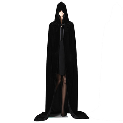 2 Pieces Unisex Hooded Cloak Long Hooded Cape Halloween Cosplay Cloak Cape for Halloween Costume