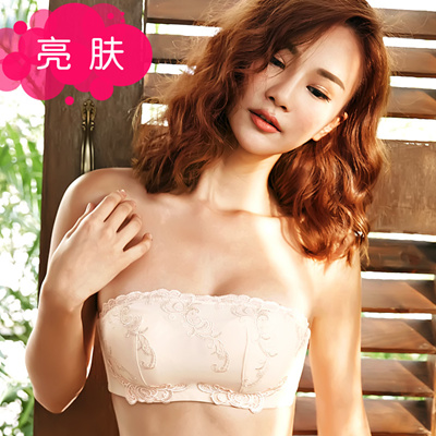 4b0ae75a157ed Qoo10 - Horizontal neck strapless gown gathered strapless bra slip small  pleur...   Underwear   Sock.