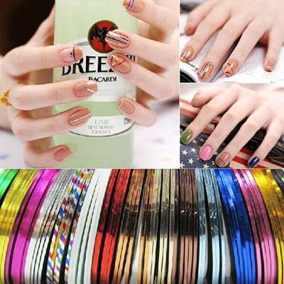 Qoo10 Hot 12xmixed Colours Pretty Rolls Striping Tape Line Nail