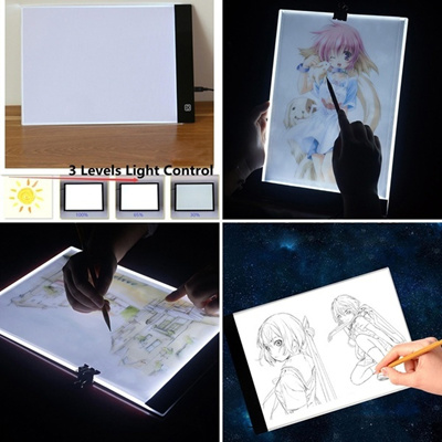 Hot A4 LED Light Box Artist Thin Art Stencil Tracing Drawing Board Plat