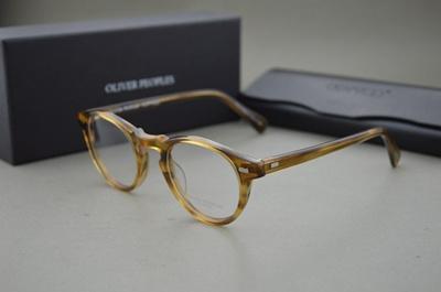 260bdd89c02 HOT Oliver Peoples 5186 Gregory Peck fashion round eyeglasses frames  Vintage optical myopia women