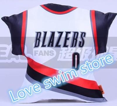more photos 18c85 c7abb Hot Portland Trail Blazers basketball 45CM large home and away jerseys  pillow Aldridge Kaman