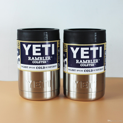 Hot Sale 12 oz Can Yeti Stainless Steel Colster Yeti Coolers Rambler  Colster YETI Cups Cars Beer Mug