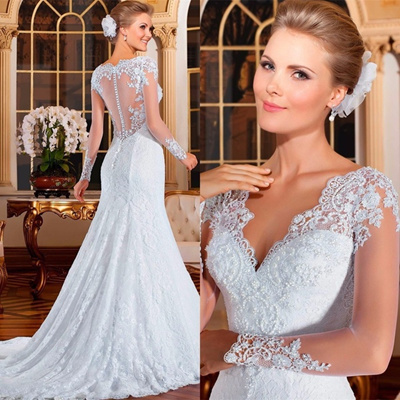 Qoo10 Hot Sale Hot Sale Gorgeous See Through Back Mermaid Lace