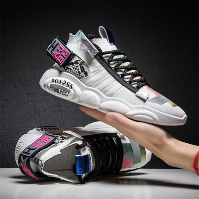 hot sale Men White Chunky Trainers