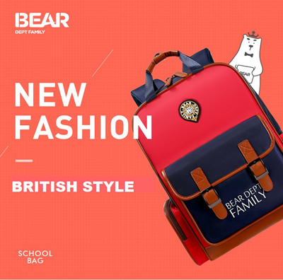 Sg Seller New Hot British Style Primary School Bag Boy Girl Lightweight Waterproof  Children Backpack 7c0b466e05582