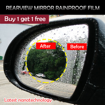🔥HOT SALE🔥ultra - thin Anti-rain rearview mirror rainproof film last  nanotechnology [By 1 free 1]