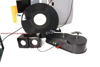 Hot Sale USB Portable Mini Phonograph Vinyl Turntable Audio Player Vinyl  Turntable to MP3/WAV/CD Con