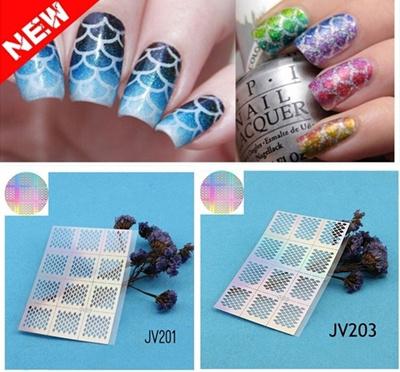 Qoo10 Hot Sale Vinyl Reusable Nail Stencil Nail Art Template