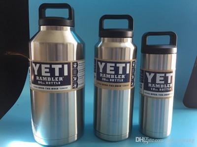 Hot Sale Yeti Rambler Bottle 18oz 36oz 64oz Rambler Colster Insulated  Stainless Steel Cup Mug Drink