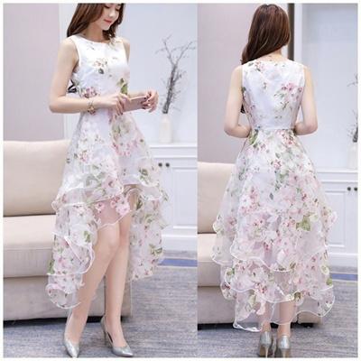 65b288239 Qoo10 - HOT Women O-neck Lace Double Layer Flower Prom Party Dress Beach  Irreg... : Women's Clothing