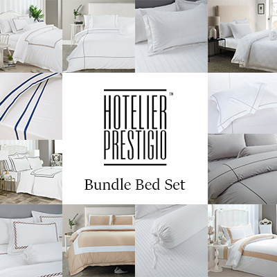 Hotelier Prestigio™ [Luxury Hotel Bedding Series] Bundle Bed Set (Bedsheet  With Quilt