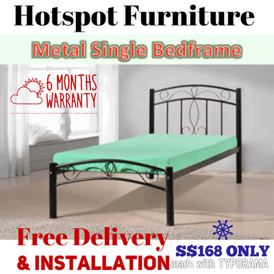 Qoo10 Sale Sturdy Metal Single Bed Frame Ready N Fast