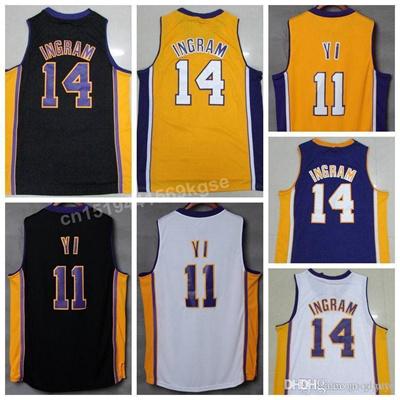 on sale 27b88 21f68 Hottest 14 Brandon Ingram Jersey Shirt Fashion 11 Yi Hollywood Nights  Uniforms Home Road Away Black