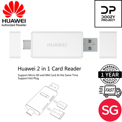 Huawei 2-in-1 memory card reader for nano card and micro SD / USB 3 1 /Dual  Type A Type C USB ports