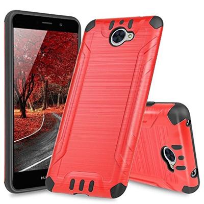 Huawei Ascend XT2 H1711 Case, Huawei Elate 4G Case, TJS Dual Layer Hybrid  Shockproof Impact Resist R