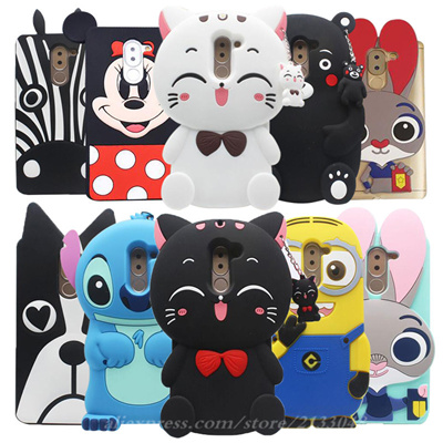 quality design 38ae2 2e7a8 Huawei Honor 6X Cases 3D silicone cartoon case Back Cover Minnie Case  Huawei Honor 6X / Mate 9 Lite