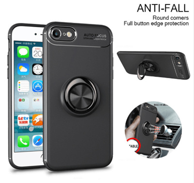 Huawei Honor 8X 8X Max Luxury Magnetic Case Car Holder Soft Finger Ring  Stand Back Cover