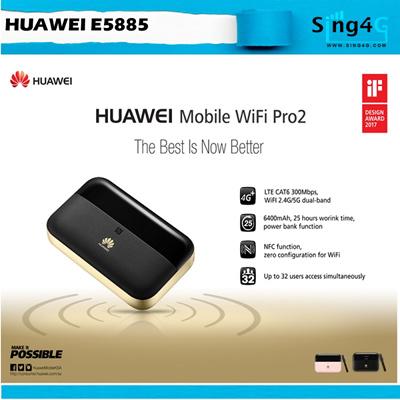 HuaweiHuawei e5885 E5885Ls-93a Mobile WiFi Pro 2 4G 300Mbps Mifi 32 Wifi 25  Hr Battery life