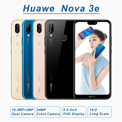 HuaweiHuawei Nova 3e P20 Lite 4G+64G/128G 16MP+2MP+24MP Camera 5 84Inch FHD