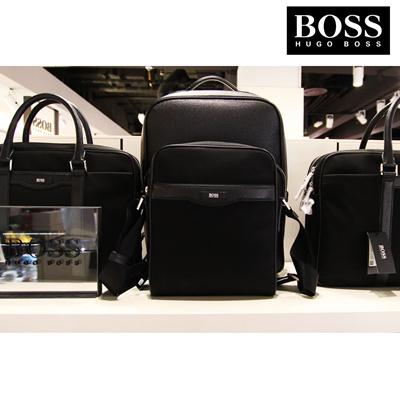 Free Shipping  HUGO BOSS Signature L NS Zip Reporter Bag 50331772 0ffca81a3697b