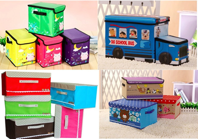 50*Storage Box*baby Organizer Kids Cartoon Box*Kids Gift*Foldable Stool