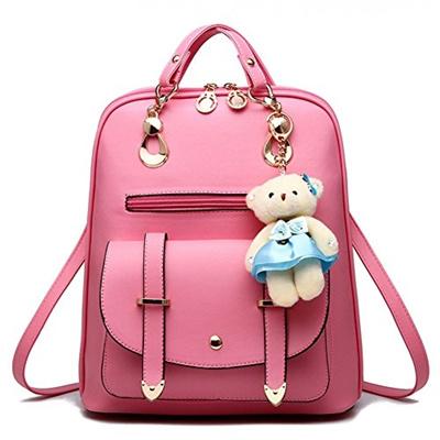 6aa4838e32849 Qoo10 - Hynbase Womens Summer Cute Korean Leather Student Bag Backpack  Shoulde... : Bag & Wallet