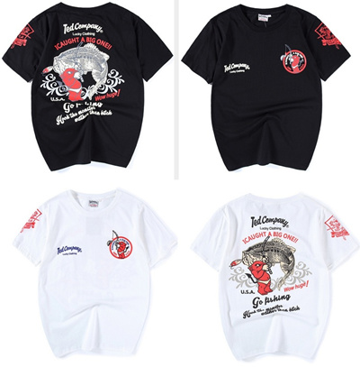 fe3800bc0e Qoo10 - I Caught A Big One Ted Company Lucky Clothing Japanese Style Tshirt  : Men's Clothing