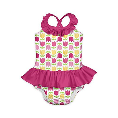 fc8e9af84369f Qoo10 - I play. i play. Baby Toddler Girls Ruffle Swimsuit With Built-In  Abso... : Baby & Maternity