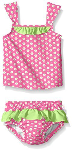 9011d0255c6ae Qoo10 - I play. i play. Baby Toddler Girls Ruffle Tankini Set With ...