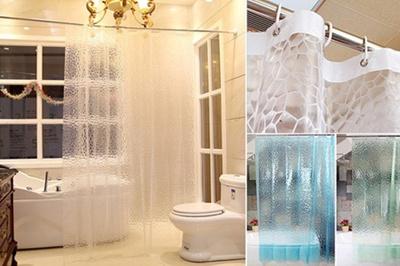 Mildew Resistant Textured Shower Curtain