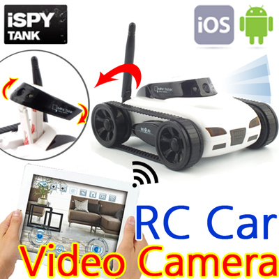 [I Spy Tank] Mini RC Car Video Camera / Wifi Remote Control / By IOS Android