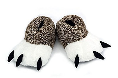 1787a347a6f (Ibeauti) Ibeauti Unisex Polar Bear Paw Slippers Boots Plush Furry Animal  Paw House Slippers